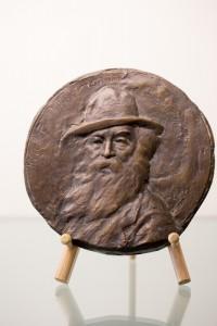 "aul W. Bartlett, Walt Whitman, c. 1927, bronze, 9"" d. GW Permanent Collection."